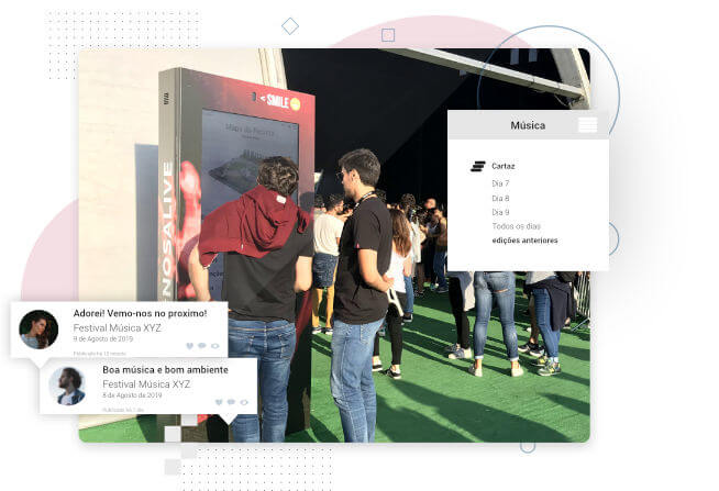 ClusterWall - Digital signage and interactivity at events