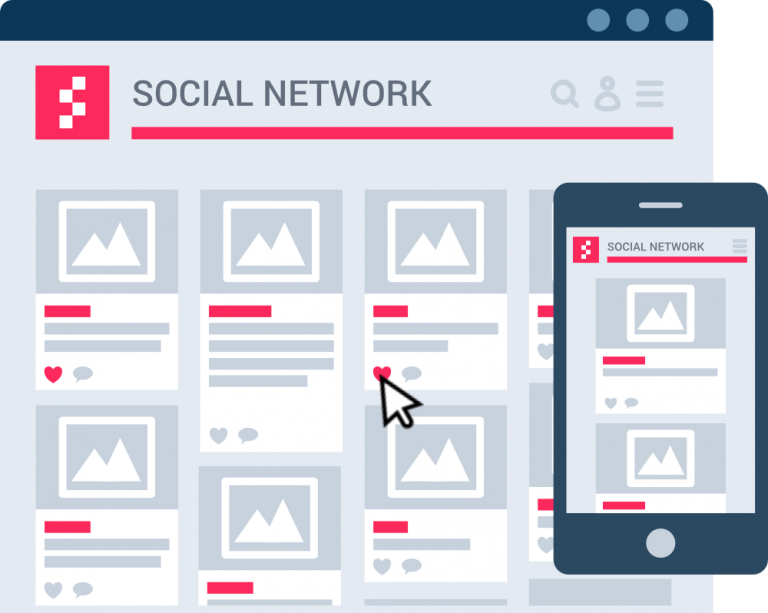 ClusterWall - Social network