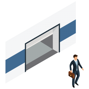 5. Check-out The visitor checks out or you do it directly at the ClusterWall backoffice